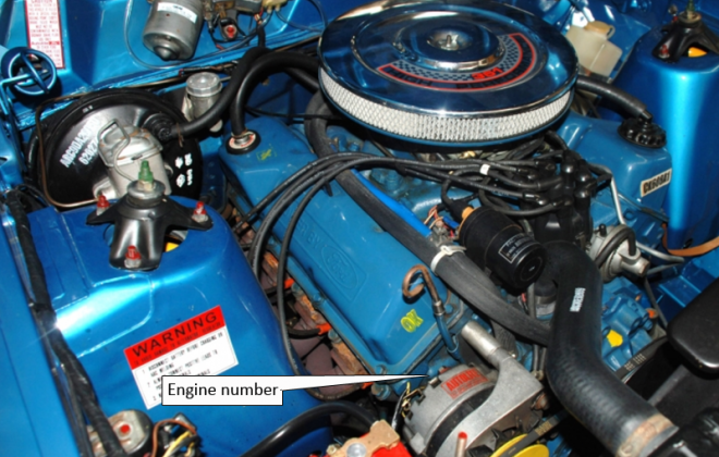 XW Ford Falcon GT engine number location 351 block.png