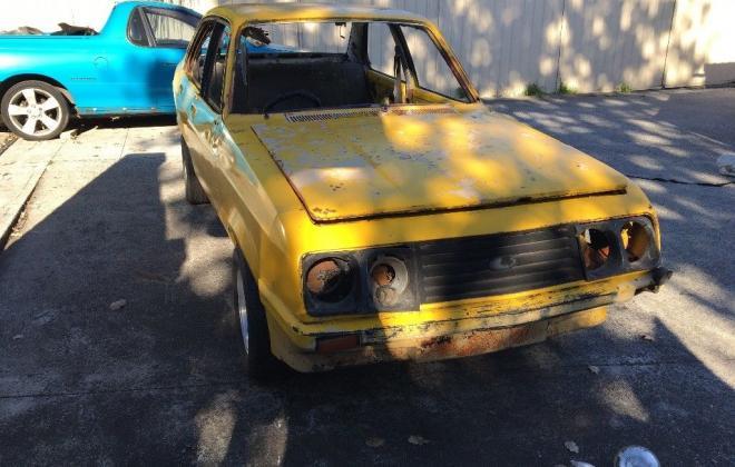 Yellow MK2 RS2000 sedan Australia escort shell unrestored images (11).jpg