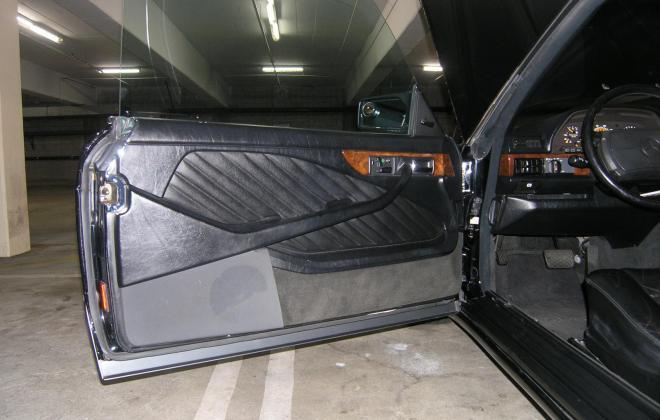 1991 Mercedes 560 SEC for sale black paint black leather images california (27).JPG