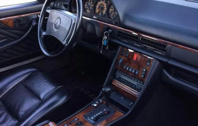 1991 Mercedes 560 SEC for sale black paint black leather images california (9).jpg