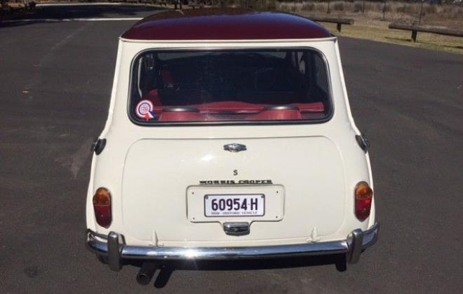 For Sale - 1967 MK1 Morris Cooper S Special Burgundy on Snow White red trim images (3).jpg