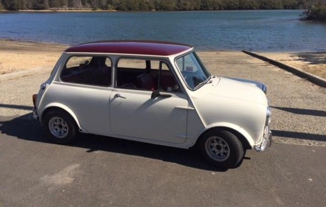 For Sale - 1967 MK1 Morris Cooper S Special Burgundy on Snow White red trim images (6).jpg