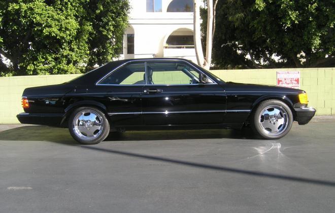 For sale 1991 Mercedes 560 SEC coupe C126 Pasadena California black (10).JPG