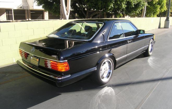For sale 1991 Mercedes 560 SEC coupe C126 Pasadena California black (11).JPG
