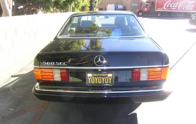 For sale 1991 Mercedes 560 SEC coupe C126 Pasadena California black (12).JPG