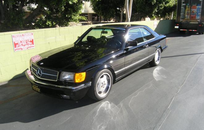 For sale 1991 Mercedes 560 SEC coupe C126 Pasadena California black (2).JPG
