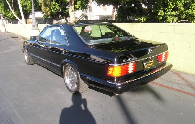 For sale 1991 Mercedes 560 SEC coupe C126 Pasadena California black (4).JPG