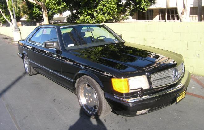 For sale 1991 Mercedes 560 SEC coupe C126 Pasadena California black (9).JPG