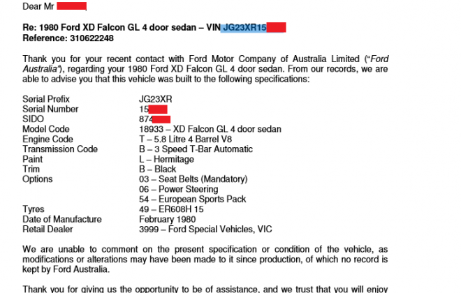 Fpr sale XE ESP Letter from Ford Australia re XD ESP VIN enquiry.png
